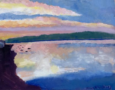 Oil Painting of Sunset on Hood Canal