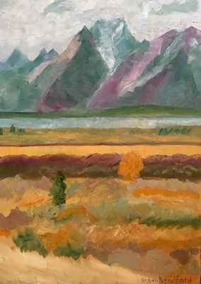 Oil Painting of the Grand Tetons
