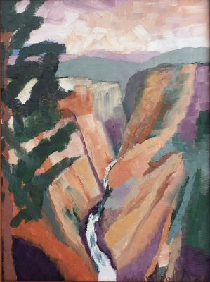 Oil Painting of The Grand Canyon of the Yellowstone
