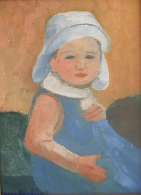 oil painting of my baby granddaughter