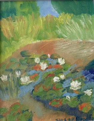 Oil Painting of Water Lillies