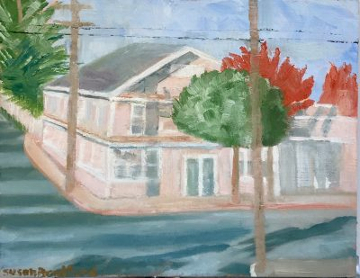 oil painting of building in Graton, CA