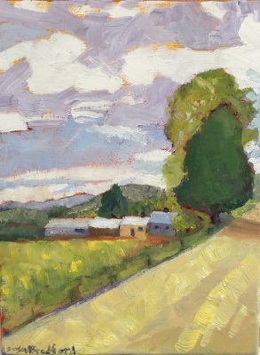 oil painting of Vermont Farm in Newbury, VT