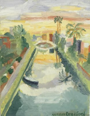 oil painting of Venice, CA canal